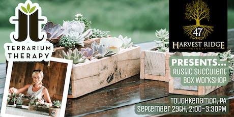 Rustic Box Planter at Harvest Ridge Toughkenamon tickets
