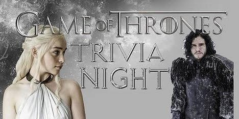 'Game of Thrones' Trivia at Dan McGuinness Southaven