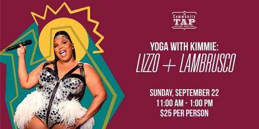Yoga and Wine Tasting with Kimmie: Lizzo and Lambrusco