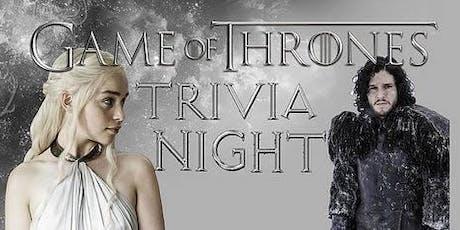'Game of Thrones' Trivia at Railgarten tickets