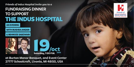Dinner & Comedy Night with Bushra Ansari & Behroz to support Indus Hospital tickets