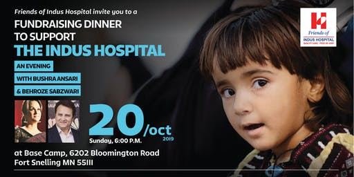 Dinner &Comedy Night with Bushra Ansari & Behroz to support Indus Hospital