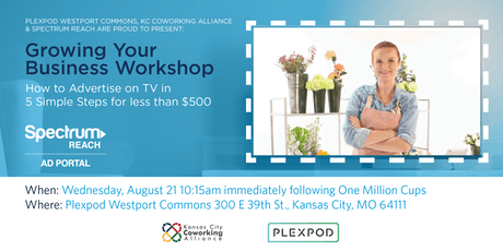 Grow Your Business Workshop: Advertise on TV in 5 Steps for Less than $500 tickets