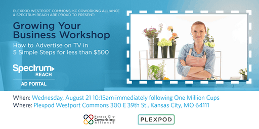Grow Your Business Workshop: Advertise on TV in 5 Steps for Less than $500