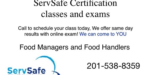 Atlantic City ServSafe Food Managers and Food Handler Class and Exam   Ocean City