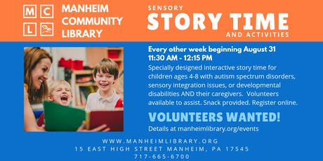 VOLUNTEER: Sensory Story Time with Activities tickets