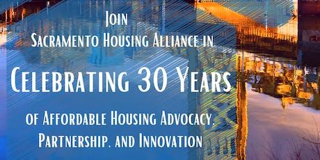 Sacramento Housing Alliance 30th Anniversary Celebration tickets