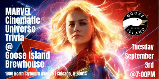 Marvel Cinematic Universe Trivia at Goose Island Brewhouse Chicago