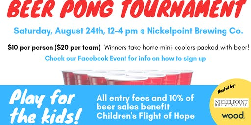 Hops for Hope Charity Beer Pong Tournament
