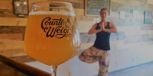 Find Your Balance at Counterweight Brewing (yoga then beer!) on September 1st