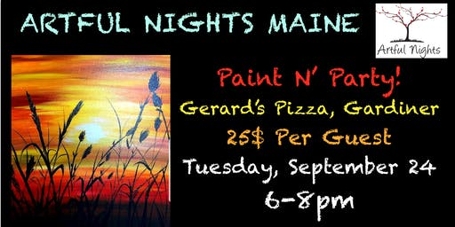 Paint N' Party Night at Gerards Pizza!
