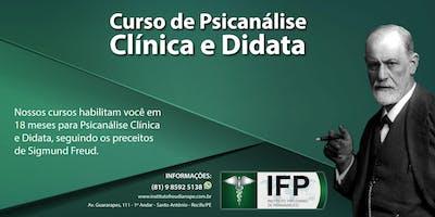 CURSO DE FORMAÇÃO EM PSICANÁLISE CLÍNICA E DIDATA