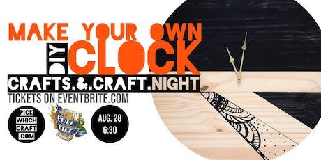 DIY Wall Clock - Crafts & Craft Night tickets