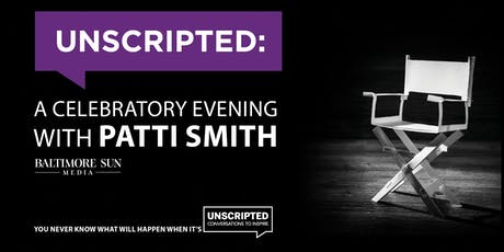 Unscripted: A Celebratory Evening with Patti Smith tickets