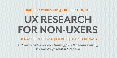 UX Research for Non-UXers | a Half-Day Workshop tickets