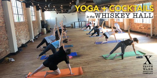 Yoga in the Whiskey Hall!