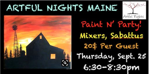 Paint N' Party at Mixer's Nightclub & Lounge!