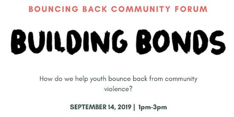 Bouncing Back Forum : How do youth bounce back from violence tickets