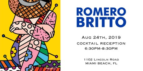 Cocktails with Artist Romero Britto on Lincoln Road tickets