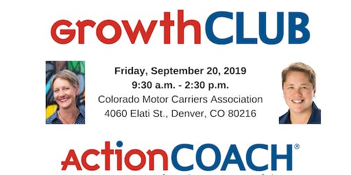 ActionCOACH's GrowthCLUB Workshop for Business Owners - September 20, 2019