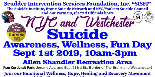 SISFI's NYC and Westchester Suicide Awareness, Wellness, Fun Day