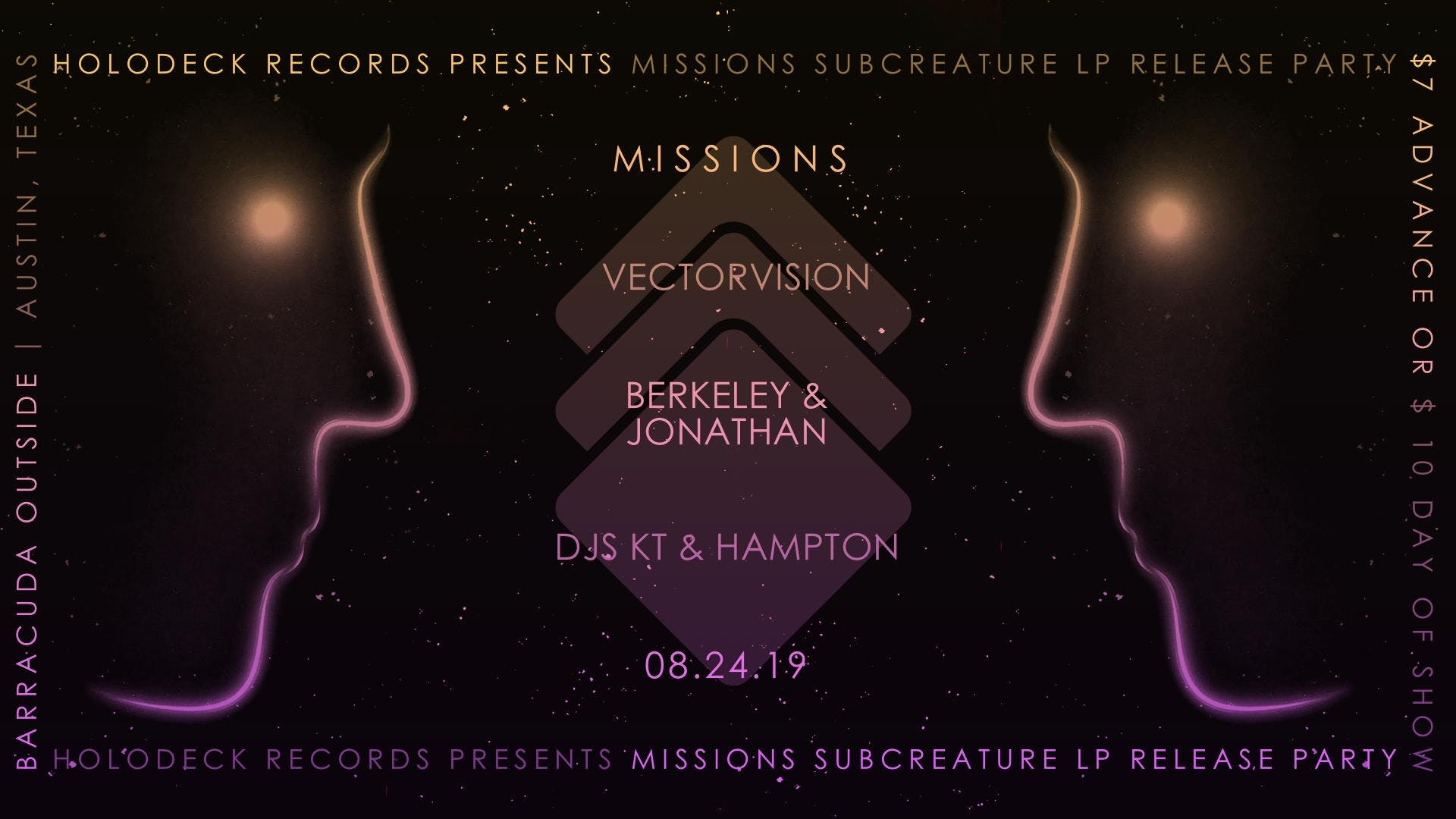 Missions (Record Release) Vectorvision, Berkley and Jonathan, DJ's KT and  Hampton