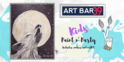 Kids Painting Party | Howling to the Moon | Includes Cookies & Milk!