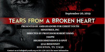Tears From A Broken Heart Stage  Play (FUNDRAISER-$50 Donation Suggestion)