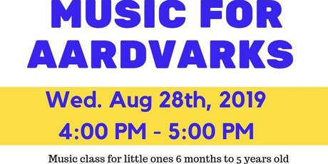 Music for Aardvarks tickets