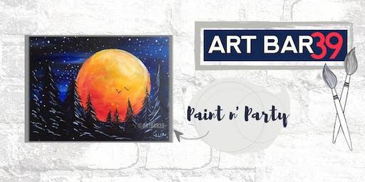 Paint & Sip | ART BAR 39 | Public Event | Fire Moon