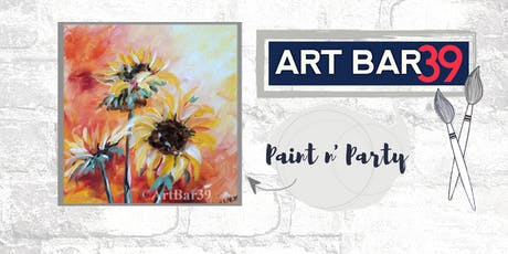 Paint & Sip | ART BAR 39 | Public Event | Sunflowers tickets