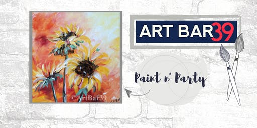 Paint & Sip | ART BAR 39 | Public Event | Sunflowers