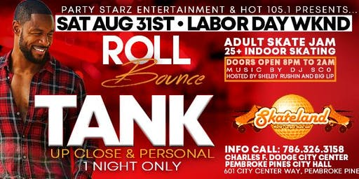 "R & B SENSATION ""TANK"" LIVE @ HOT 105.1 & PARTY STARZ ROLL BOUNCE SKATE JAM"