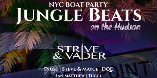JUNGLE BEATS DANCE BOAT PARTY CRUISE  NEW YORK CITY VIEWS  OF STATUE OF LIBERTY,Cockctails & drinks