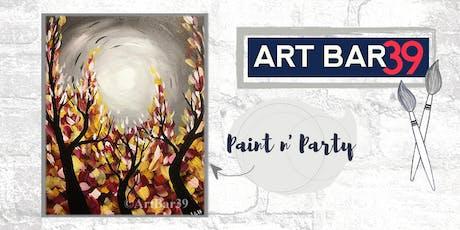 Paint & Sip | ART BAR 39 | Public Event | Fall Trees tickets