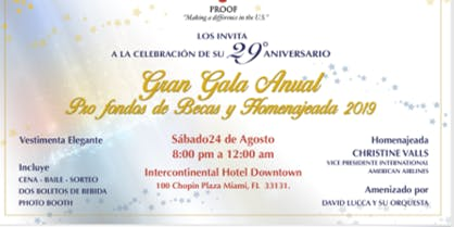 Puerto Rican Organized Overseas Florida Gala Event 29th Anniversary