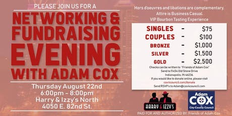 Networking & Fundraising Evening With Adam Cox tickets