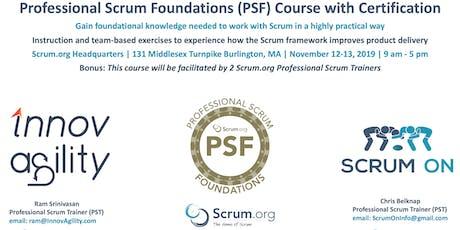 Scrum.org Professional Scrum Foundations (PSF) - Burlington MA - Nov12-13, 2019 tickets