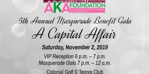 2019 AKA Foundation of Central PA Masquerade Benefit Gala