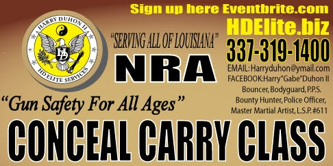 NRA CONCEAL CARRY CLASS!