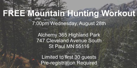 FREE Mountain Hunting Workout tickets