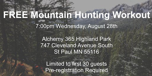 FREE Mountain Hunting Workout