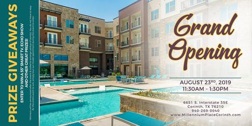 Grand Opening @ Millennium Place Apartments w/ GRAND PRIZE GIVEAWAYS