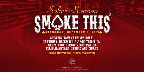 SABOR HAVANA CIGARS SMOKETHIS® 2019 tickets