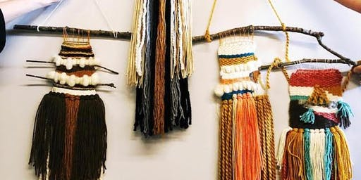 Craft Camp // Yoga + DIY Woven Wall Hanging at Flytrap Brewing