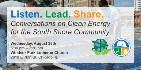 Listen. Lead. Share. Conversations on Clean Energy in South Shore tickets