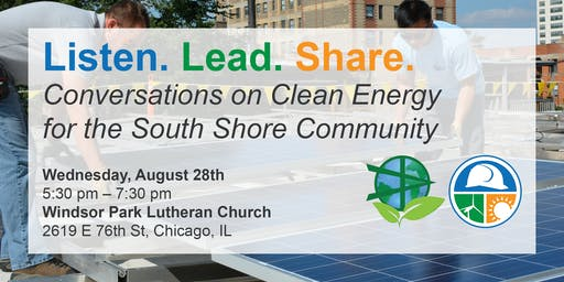 Listen. Lead. Share. Conversations on Clean Energy in South Shore