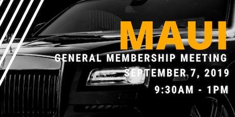 Maui General Membership Meeting tickets