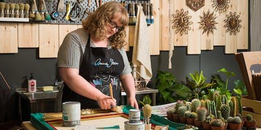 Annie Sloan frame painting workshop