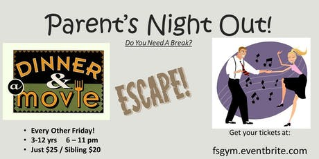 Parent's Night Out! Aug 30, 2019 Now 5 hours tickets